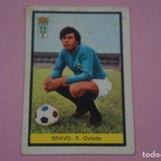 Cromos de Fútbol: CROMO DE FÚTBOL BRAVO DEL REAL OVIEDO DESPEGADO LIGA FHER 1972-1973/72-73. Lote 245378775