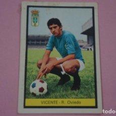 Cromos de Fútbol: CROMO DE FÚTBOL VICENTE DEL REAL OVIEDO DESPEGADO LIGA FHER 1972-1973/72-73. Lote 245378750