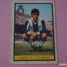 Cromos de Fútbol: CROMO DE FÚTBOL LAMATA DEL R.C.D. ESPAÑOL-ESPANYOL DESPEGADO LIGA FHER 1972-1973/72-73. Lote 245378400