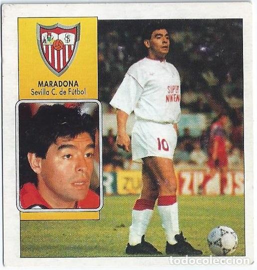 MARADONA - SEVILLA - COLOCA LIGA 92 93 - EDICIONES ESTE (Coleccionismo Deportivo - Álbumes y Cromos de Deportes - Cromos de Fútbol)