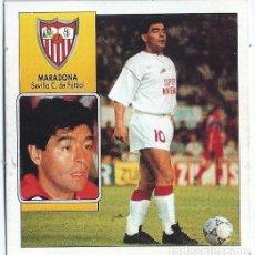 Cromos de Fútbol: MARADONA - SEVILLA - COLOCA LIGA 92 93 - EDICIONES ESTE. Lote 141713542