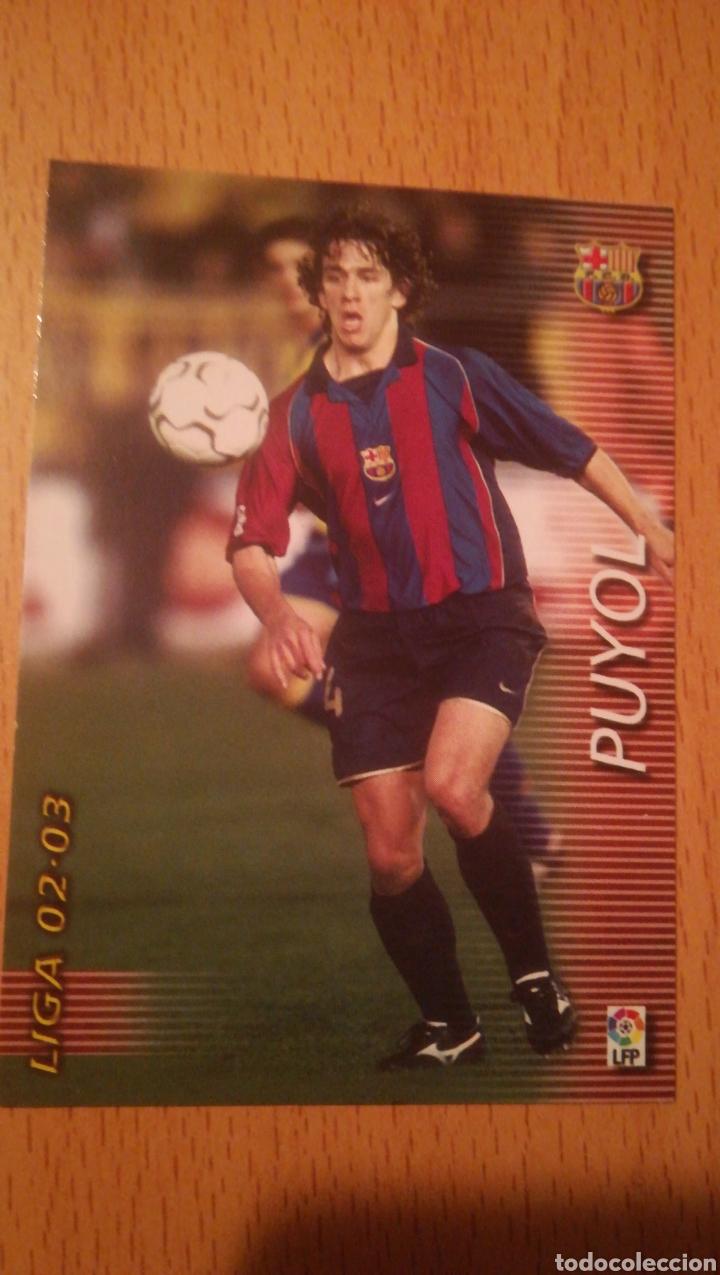 MEGAFICHAS 2002 2003 PANINI PUYOL Nº 57 BARCELONA MEGACRACKS (Coleccionismo Deportivo - Álbumes y Cromos de Deportes - Cromos de Fútbol)