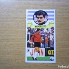 Cromos de Fútbol: MANZANEDO VERSION REAL VALLADOLID EDICIONES ESTE 1985 1986 85 86 CROMO FUTBOL SIN PEGAR NUNCA PEGADO. Lote 141847498