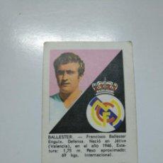 Cromos de Fútbol: BALLESTER REAL MADRID ALBUM DISGRA FHER LIGA 1970 - 1971 (70-71). TDKP13. Lote 141848542