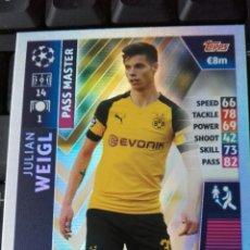 Cromos de Fútbol: WEIGL BORUSSIA MATCH ATTAX CHAMPIONS 18 19 PASS MASTER. Lote 141907961