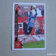 Cromos de Fútbol: MUNDICROMO FICHAS LIGA 2006 PLATINUM Nº 848 ROBERTO SPORTING GIJON 05 06 2005 2006 NUEVO. Lote 145085778