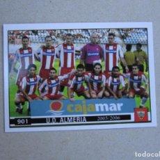 Cromos de Fútbol: MUNDICROMO FICHAS LIGA 2006 PLATINUM Nº 901 ALINEACION EQUIPO / INDICE ALMERIA 05 06 2005 2006 NUEVO. Lote 145092220