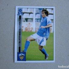Cromos de Fútbol: MUNDICROMO FICHAS LIGA 2006 PLATINUM Nº 930 JUANMA CRUZ LLEIDA 05 06 2005 2006 NUEVO. Lote 142265490