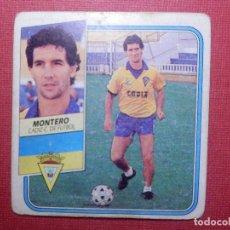 Cromos de Fútbol: CROMO - FUTBOL - MONTERO - CÁDIZ - EDICIONES ESTE - LIGA 89-90 - 1989-1990 - NUNCA PEGADO. Lote 142351150