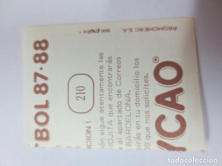 Cromos de Fútbol: CROMO VILLARROYA BOLLY-FUTBOL 87-88 BOLLYCAO - Foto 2 - 142423734
