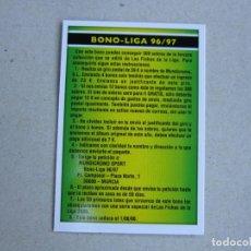 Cromos de Fútbol: MUNDICROMO FICHAS LIGA 2006 BONO LIGA 96 / 97 - COMODIN 2006 05 06 2005 2006 NUEVO. Lote 176618733