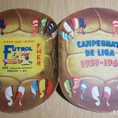 Fußball-Sticker: FHER - CAMPEONATO DE LIGA 1959/ 1960, 59/ 60 - ALBUM COMPLETO. Lote 142781934
