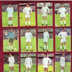 Cromos de Fútbol: REAL MADRID - CAMPEONATO DE LIGA 1964 65 - 14 CROMOS - DISGRA. Lote 143153926