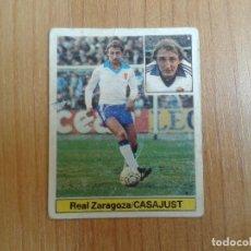 Cromos de Fútbol: CASAJUST -- ZARAGOZA -- 81/82 -- ESTE -- RECUPERADO. Lote 143589674