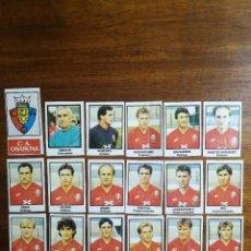 Cromos de Fútbol: C.A. OSASUNA - 18 CROMOS - EQUIPO COMPLETO - PATERNINA LIGA 1991/92 91/92. Lote 143619430