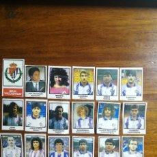 Cromos de Fútbol: REAL VALLADOLID - 18 CROMOS - EQUIPO COMPLETO - PATERNINA LIGA 1991/92 91/92. Lote 143619830
