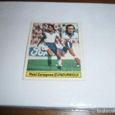 Cromos de Fútbol: CROMO EDICIONES ESTE 1981-1982 ZUNZUNEGUI FICHAJE Nº 3 REAL ZARAGOZA 81-82 LEVE DESPEGADO. Lote 143705530