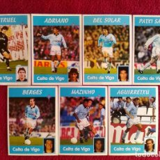Cromos de Fútbol: PANINI LIGA 1997 1998 97 98 CELTA DE VIGO 7 CROMOS DIFERENTES NUNCA PEGADOS SIN PEGAR. Lote 143737082
