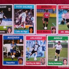 Cromos de Fútbol: PANINI LIGA 1997 1998 97 98 7 CROMOS DIFERENTES NUNCA PEGADOS SIN PEGAR. Lote 143737514