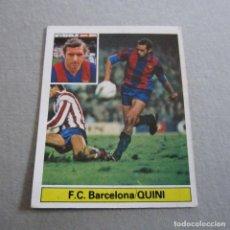 Cromos de Fútbol: EDICIONES ESTE. LIGA 81-82. NUEVO. QUINI-F.C. BARCELONA.. Lote 143882618