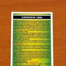 Cromos de Fútbol: COMODIN 2006 - BONO-LIGA 95/96 - FICHAS DE LA LIGA 2005-2006, 05-06 - MUNDICROMO . Lote 144201526