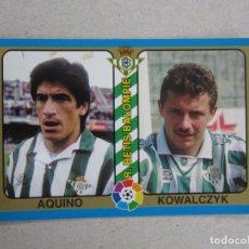 Cromos de Futebol: MUNDICROMO FUTBOL TOTAL LIGA 95 94 Nº 171 AQUINO KOWALCZYK BETIS 1994 1995 NUEVO. Lote 253140860
