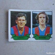 Cromos de Fútbol: RUIZ ROMERO 78 79 Nº 16 SANCHEZ NESKENS NEESKENS BARCELONA 1978 1979 NUNCA PEGADO. Lote 202990761