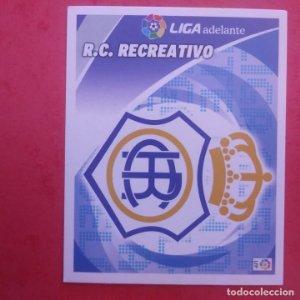 ESCUDO R.C. RECREATIVO 2012 2013 LIGA BBVA 12-13 COLECCIONES ESTE PANINI SIN PEGAR