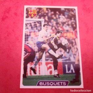 57 BUSQUETS F.C. BARCELONA CROMOS ALBUM MUNDICROMO FICHAS LIGA 1995 1996 95 96 TEMPORADA 94/95