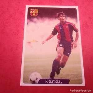 63 NADAL F.C. BARCELONA CROMOS ALBUM MUNDICROMO FICHAS FÚTBOL LIGA 1995 1996 95 96 TEMPORADA 94/95