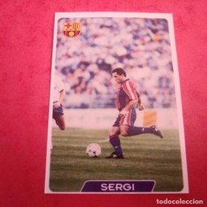 59 SERGI F.C. BARCELONA CROMOS ALBUM MUNDICROMO FICHAS FÚTBOL LIGA 1995 1996 95 96 TEMPORADA 94/95