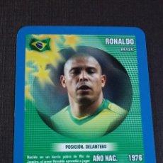 Figurine di Calcio: CARD RONALDO - BRASIL - TOP TRUMPS 2005. Lote 145152706