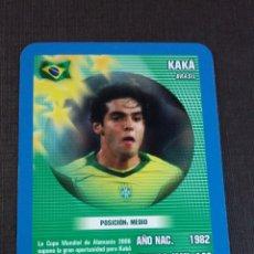 Figurine di Calcio: CARD KAKÁ - BRASIL - TOP TRUMPS 2005. Lote 145152818