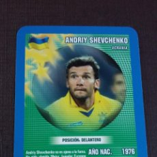 Figurine di Calcio: CARD ANDRIY SHEVCHENKO - UCRANIA - TOP TRUMPS 2005. Lote 145153554