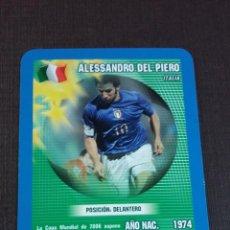 Figurine di Calcio: CARD ALESSANDRO DEL PIERO - ITALIA - TOP TRUMPS 2005. Lote 145153722