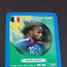 Figurine di Calcio: CARD THIERRY HENRY - FRANCIA - TOP TRUMPS 2005. Lote 145154330