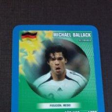 Figurine di Calcio: CARD MICHAEL BALLACK - ALEMANIA - TOP TRUMPS 2005. Lote 145154606