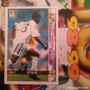 484 Eto'o Etoo Eto. Real Madrid, Última hora. Mundicromo MC. Fichas liga 1998 1999 98 99 LFP
