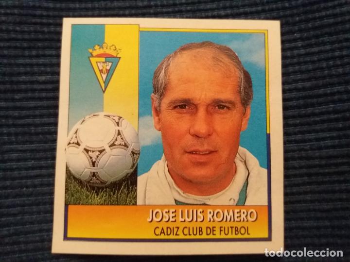 92/93 ESTE. COLOCA CADIZ JOSE LUIS ROMERO (Coleccionismo Deportivo - Álbumes y Cromos de Deportes - Cromos de Fútbol)