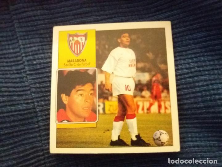 92/93 ESTE. NUNCA PEGADO COLOCA SEVILLA MARADONA (Coleccionismo Deportivo - Álbumes y Cromos de Deportes - Cromos de Fútbol)