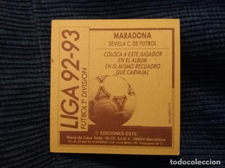 Cromos de Fútbol: 92/93 ESTE. NUNCA PEGADO COLOCA Sevilla maradona - Foto 2 - 145793642