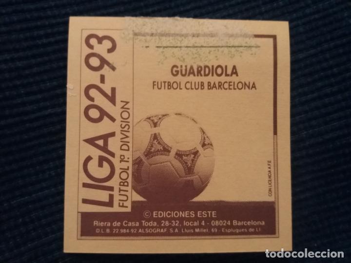 Cromos de Fútbol: 92/93 ESTE. BARCELONA guardiola - Foto 2 - 145876838