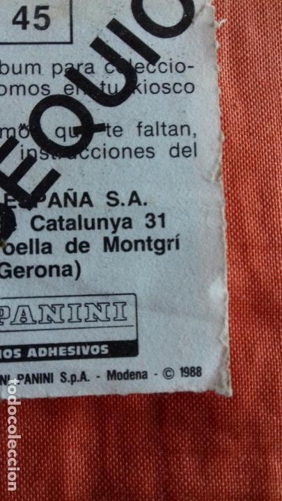 Cromos de Fútbol: Coleccion Futbol 88. Cromo obsequio numero 45. ZUBIZARRETA.F.C.BARCELONA. Panini. - Foto 4 - 145975446
