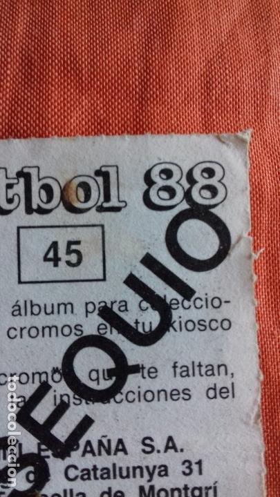 Cromos de Fútbol: Coleccion Futbol 88. Cromo obsequio numero 45. ZUBIZARRETA.F.C.BARCELONA. Panini. - Foto 5 - 145975446