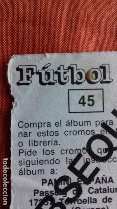 Cromos de Fútbol: Coleccion Futbol 88. Cromo obsequio numero 45. ZUBIZARRETA.F.C.BARCELONA. Panini. - Foto 6 - 145975446