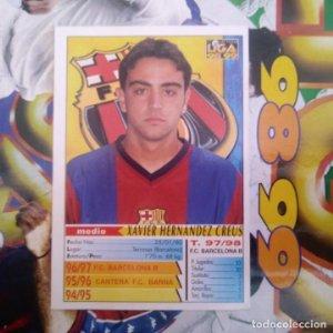 16 XAVI HERNÁNDEZ CREUS - ROOKIE CARD - MUNDICROMO MC - FICHAS LIGA 1998 1999 98 99 LFP