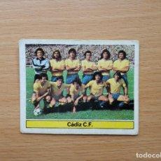 Cromos de Fútbol: ALINEACION CADIZ CF EDICIONES ESTE 1981 1982 LIGA 81 82 CROMO FUTBOL SIN PEGAR NUNCA PEGADO. Lote 146175254
