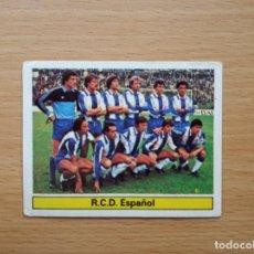 Cromos de Fútbol: ALINEACION RCD ESPAÑOL EDICIONES ESTE 1981 1982 LIGA 81 82 CROMO FUTBOL SIN PEGAR NUNCA PEGADO. Lote 146175414