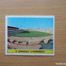 Cromos de Fútbol: LA ROMAREDA CAMPO R ZARAGOZA EDICIONES ESTE 1981 1982 LIGA 81 82 CROMO FUTBOL SIN PEGAR NUNCA PEGADO. Lote 146176666