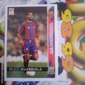12 GUARDIOLA - MUNDICROMO MC SPORT - FICHAS LIGA 1998 1999 98 99 LFP